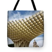 Metropol Parasol At The Plaza Of The Incarnation In Seville Spai Tote Bag