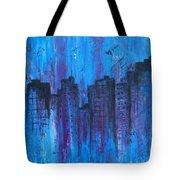 Metropolis In Blue Tote Bag