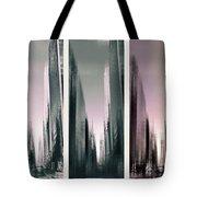 Metropolis Rush Hour Triptych Tote Bag