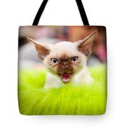 Mew Kitty Funny Mad Face Tote Bag