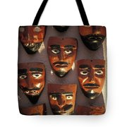 Mexican Devil Masks Tote Bag