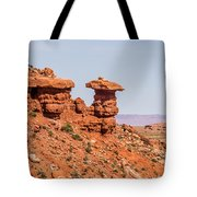 Mexican Hat Rock Monument Landscape On Sunny Day Tote Bag