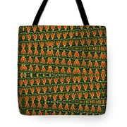 Mexican Poppy Field Abstract Tote Bag