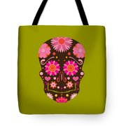 Mexican Skull Art Illustration Tote Bag