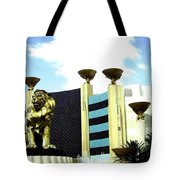 Mgm Lion In Las Vegas Tote Bag