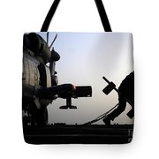 Mh-60r Sea Hawk Helicopter Is Ready For Duty Tote Bag