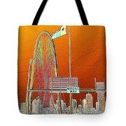 Mhh Bridge Abstract Tote Bag