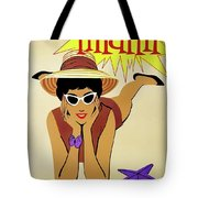Miami Travel By Braniff Airways  1960 Tote Bag