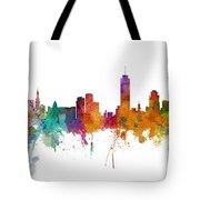 Miami And Nashville Skylines Mashup Tote Bag
