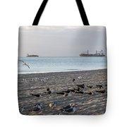 Miami Beach Flock Of Birds Sunrise Tote Bag