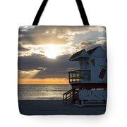 Miami Beach Life Guard House Sunrise 2 Tote Bag