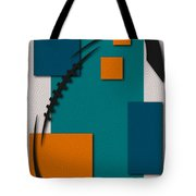 Miami Dolphins Football Art Tote Bag