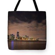 Miami Downtown At Night Tote Bag