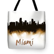 Miami Fla 2 Skyline Tote Bag