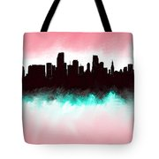 Miami Fla Skyline Tote Bag