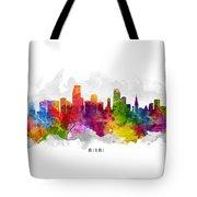 Miami Florida Cityscape 13 Tote Bag