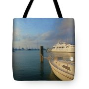 Miami Harbor Tote Bag