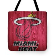 Miami Heat Barn Door Tote Bag