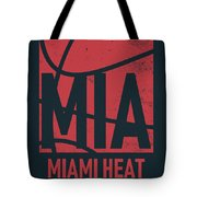 Miami Heat City Poster Art Tote Bag