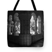 Miami Monastery In Black And White Tote Bag