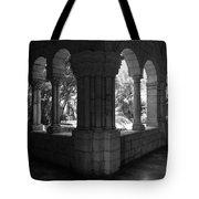 Miami Monastery In Black And White Tote Bag