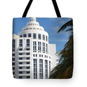 Miami S Capitol Building Tote Bag