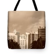 Miami  Sepia Sky Tote Bag