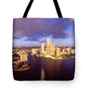 Miami Skyline 3 Tote Bag