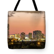 Miami Sunset Skyline Tote Bag