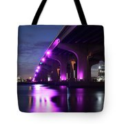 Miami Under The 395 At Night Tote Bag