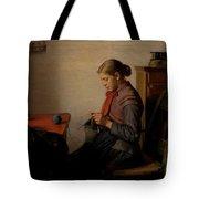 Michael Ancher - Skagen Girl, Maren Sofie, Knitting. Tote Bag