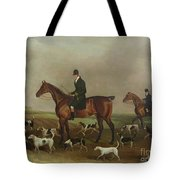 Michael Beverley With His Whipper In And Harriers Tote Bag