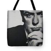 Michael Caine 2013 Tote Bag by Luis Ludzska