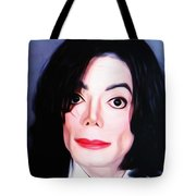 Michael Jackson Mugshot Tote Bag by Bill Cannon