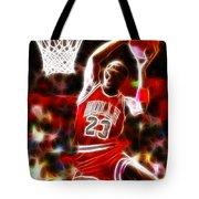 Michael Jordan Magical Dunk Tote Bag by Paul Van Scott