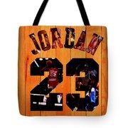 Michael Jordan Wood Art 1a Tote Bag