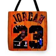 Michael Jordan Wood Art 1c Tote Bag