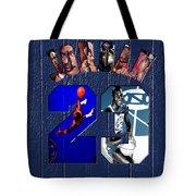 Michael Jordan Wood Art 2c Tote Bag