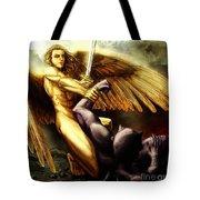 Michael Vs Devil Tote Bag
