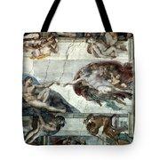 Michelangelo: Adam Tote Bag