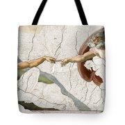 Michelangelo Creation Digital Tote Bag