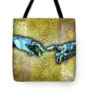 Michelangelo's Creation Of Man Tote Bag