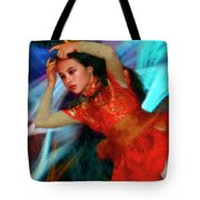 Michelle Ahl Pensive Moment Tote Bag