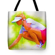 Michelle Wie Of Usa Lined Her Ball Tote Bag