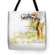 Michelle Wie Of Usa Putting At The  Lpga Lotte Championship  Tote Bag