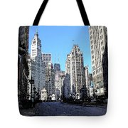 Michigan Ave Wide Tote Bag