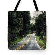 Michigan Rural Roadway In September Tote Bag