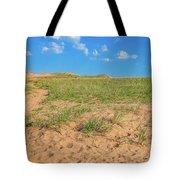 Michigan Sand Dune Landscape In Summer Tote Bag