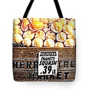 Michigan Squash For Sale Tote Bag