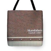 Michigan State University Skandalaris Football Center Signage Tote Bag